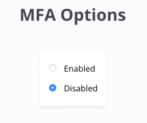 MFA disabled